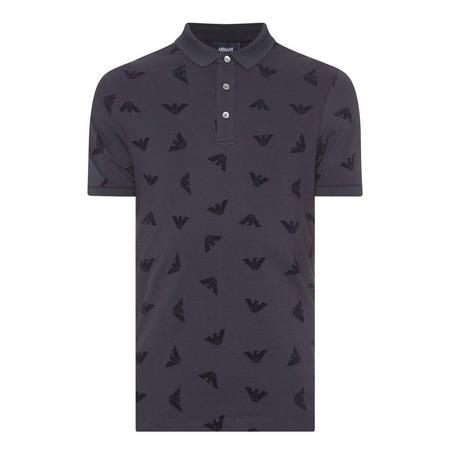 Eagle Logo Piqué Polo Shirt