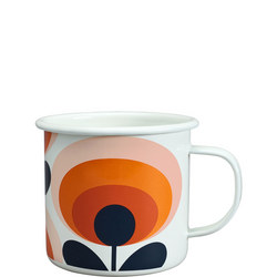 Enamel Mug 70's Flower Oval Permission 500ml