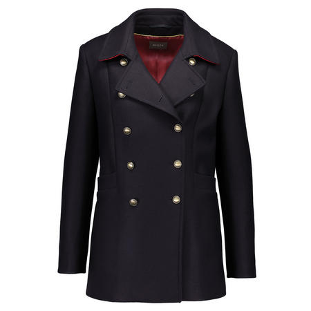Double Breasted Military Jacket Navy