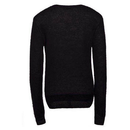 Majlo Transparent Knit Sweater Black
