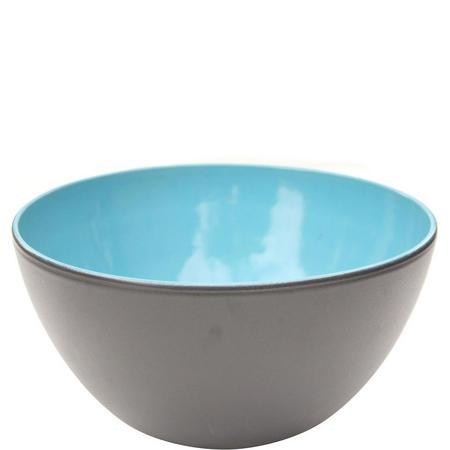 Matt Black & Blue Bowl 28 cm