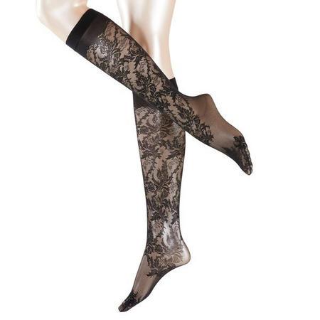 Bustier Knee High Socks Black