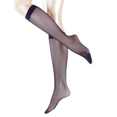 Autumn Basket Knee High Socks Navy