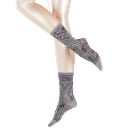 Limoges Floral Socks Brown