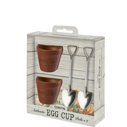 2 Piece Flower Pot & Shovel Egg Cup pails