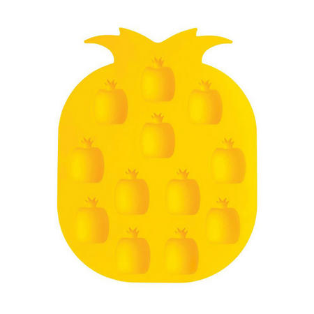 Silicone Pineapple Ice Cube Tray Yellow