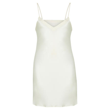 Short V-Neck Chemise White