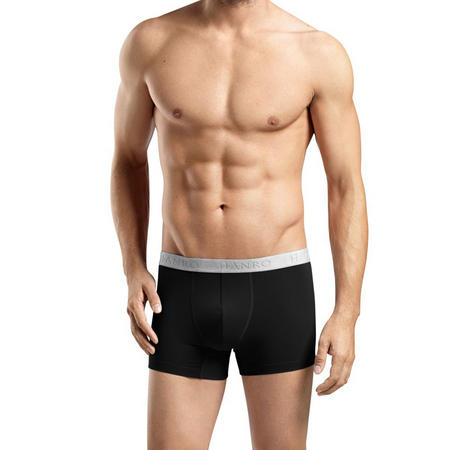 Two-Pack Cotton Essentials Boxers Black