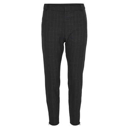 Lacey Check Trousers  Grey