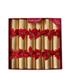 Glitter Poinsettia Crackers