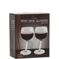 Vinology Tipsy Wine Glasses Set of 2