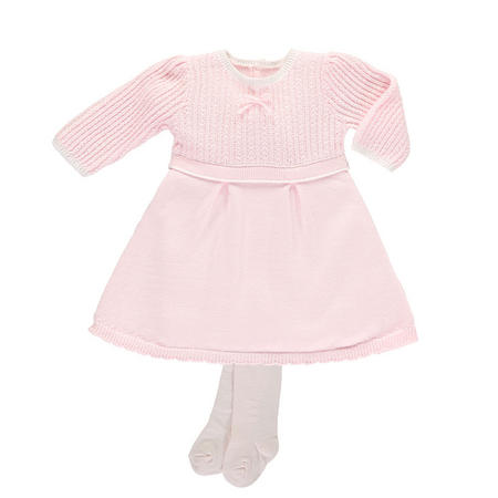 Loralie Cable Knit Dress Pink