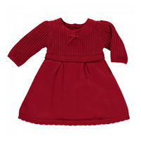 Loralie Cable Knit Dress Red
