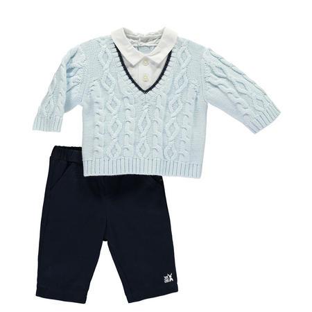 Lennon Cable Knit Outfit Set Blue