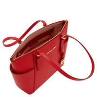 Jet Set Saffiano Leather Tote Large Red