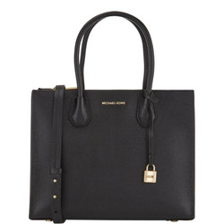 Mercer Bonded Leather Tote Large Black