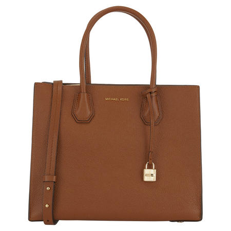 Mercer Bonded Leather Tote Large Tan