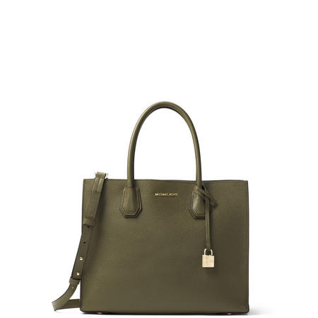 753fd1f2f4ab5 MICHAEL Michael Kors Mercer Large Leather Tote Bag Green