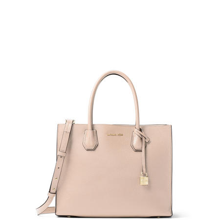 Mercer Large Leather Tote Bag Pink