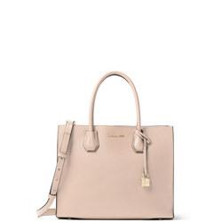Mercer Large Leather Tote Bag Pink