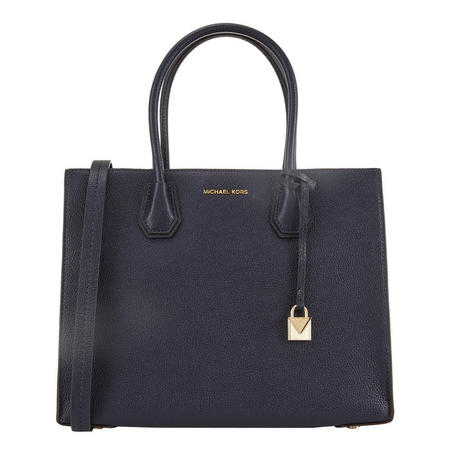 Mercer Leather Tote Bag Large Blue