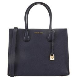 Mercer Leather Tote Bag Large Blue