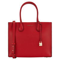 Mercer Bonded Leather Tote Large Bright Red