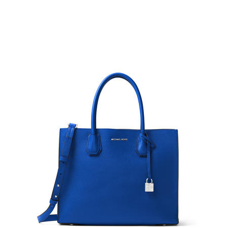 Mercer Large Leather Tote Bag Blue