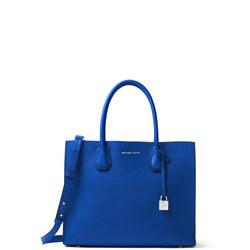 Mercer Large Leather Tote Bag Blue