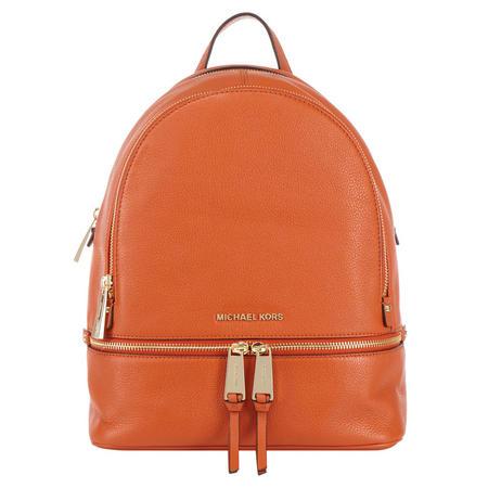 22d1fc8b4a34 MICHAEL Michael Kors Rhea Leather Backpack Medium Orange