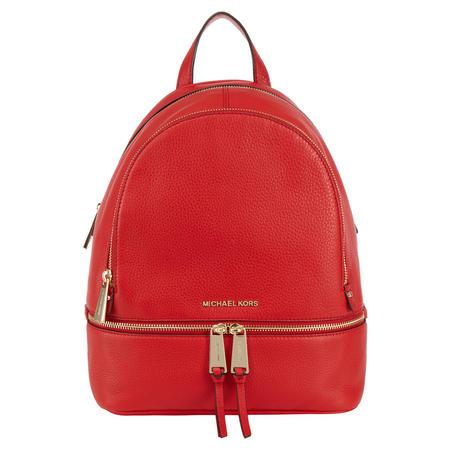 Rhea Leather Backpack Medium Red