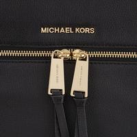 Rhea Leather Backpack Large Black
