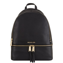 Rhea Leather Backpack Large Black