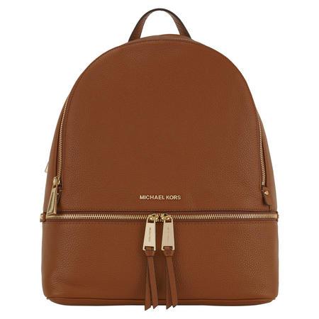 Rhea Leather Backpack Large Tan