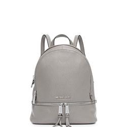 Rhea Leather Backpack Medium Grey