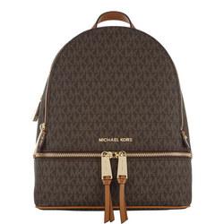 Rhea Signature Zipped Backpack
