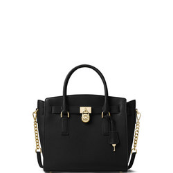 Hamilton Large Leather Satchel Bag Black