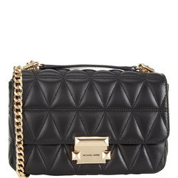 Sloan Quilted Crossbody Bag Black