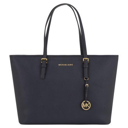 Jet Set Top Zip Tote Navy