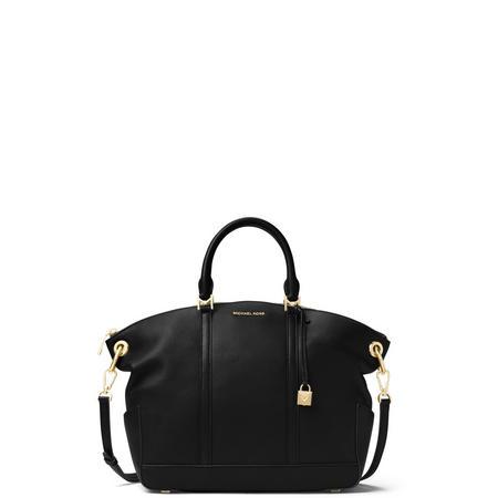 678cb386b8 MICHAEL Michael Kors Beckett Large Leather Satchel Bag Black