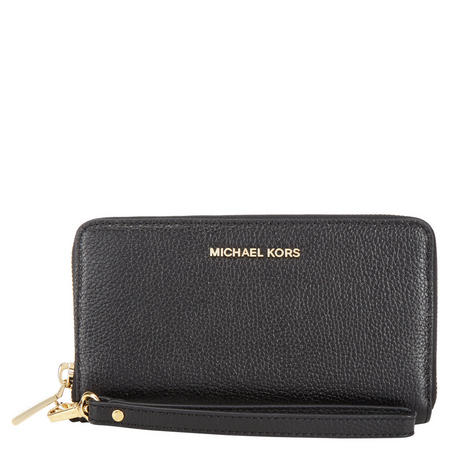 Mercer Leather Smartphone Wristlet Large Black