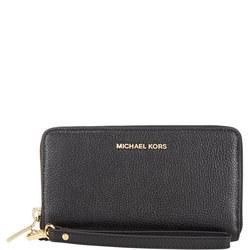 Mercer Leather Smartphone Wristlet Large Black