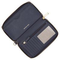 Mercer Leather Smartphone Wristlet Large Navy