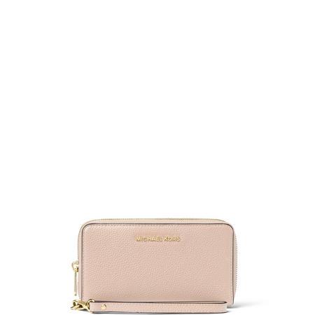 Mercer Leather Smartphone Wristlet Large Pink