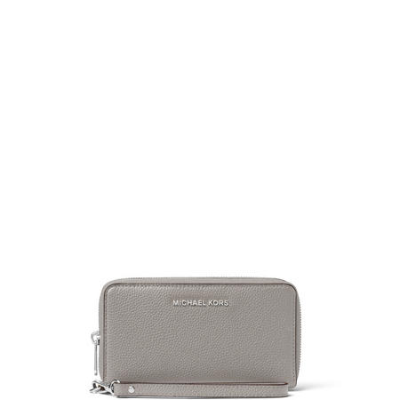 Mercer Leather Smartphone Wristlet Large Grey
