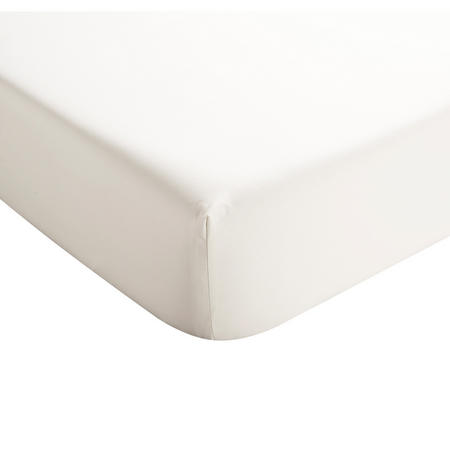 Sateen Ivory Fitted Sheet