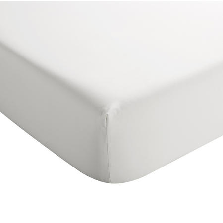 Sateen Fitted Sheet White