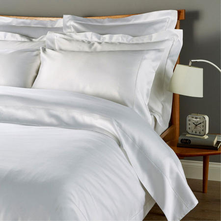 900Tc Picot Fitted Sheet White