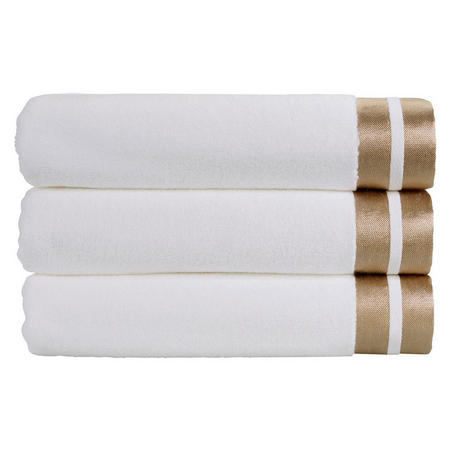 Mode Towel White And Gold