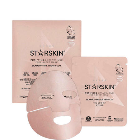 Silkmud Pink French Clay Purifying Liftaway Mud Face Sheet Mask